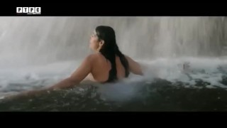 Monica Bellucci Bathing Under A Waterfall And Shining Her Boobs 2016